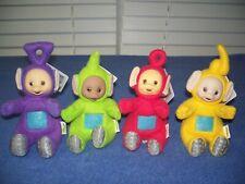 """Vintage 1998 Teletubbies Dipsy Tinky Winky Laa Laa & Po 6"""" Plush Bean Bag w Tags"""