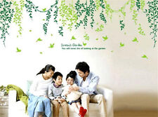 Green leaves and vines Home room Decor Removable Wall Sticker Decal Decoration