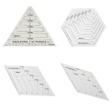 Acrylic Sewing Ruler Patchwork Quilting Rhombus Hexagon Triangle DIY Template