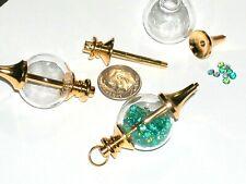 1pc Glass Crystal Ball pendulum Bottle pendant vial Necklace charm Locket Golden