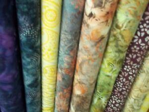 10 Diif 1 yd pcs Hoffman Batik Fabric $6.00 yd