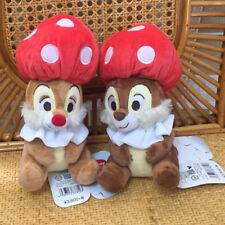 Set of DIsney mushroom squirrel squirrels couple plush doll dolls toy 7 inch new