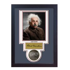 Albert Einstein Autograph print signed photo autographed poster FRAMED
