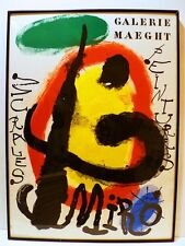 LARGE ORIGINAL COLOR LITHOGRAPH GALERIE MAEGHT BY JOAN MIRO-LISTED
