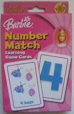 Barbie Number Match Game 2004 Memory Learning Card Game Educational Fun