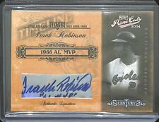 2004 Playoff Prime Cuts Century Autograph #TL-30 Frank Robinson No 2 of 10