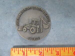 JI CASE Construction Backhoe Loader Silver Anniversary 1982 belt Buckle Tractor