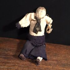 Antique Rag Doll Primitive Handmade Cloth Sailor Navy Military Priority Mail