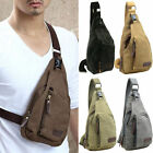 US Men Canvas Military Messenger Shoulder Travel Hiking Fanny Small Bags Satchel