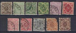 Germany Wurttemberg 1875 - 1900 selection to 50pf Used
