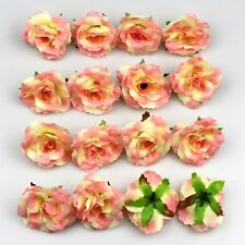 50X Artificial Fake Rose Silk Flower Head Wedding Home Garden Decor Mixed pink