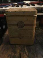 Antique  SQUIBB & SONS BICALCIUM PHOSPHATE  METAL TIN CAN 1 lb ADVERTISING