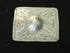 Vintage Southwestern Sterling Silver Pin Modern Etched Abstract Designs 24 grams