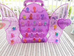 Hatchimals COLLEGGTIBLES Random Lot of 28  Piece with Purple Glitter Case HTF !!
