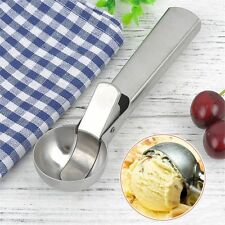 Circle Frozen Yogurt Ice Cream Spoon Stainless Steel Watermelon Scoop with Clip