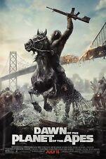 DAWN OF THE PLANET OF THE APES Advance 1-SHEET POSTER Caesar Horseback ROLLED