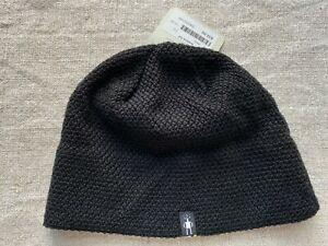 Smartwool  Women's Merino Wool Black Texture Lid Beanie Hat NEW