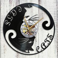 Cats Vinyl Clock