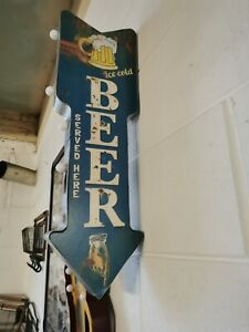 LARGE ICE COLD BEER SERVED HERE ILLUMINATED SIGN BOXED NEW