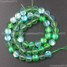 Top Crystal Glass Round Matte Frosted Inside AB Beads 6mm 8mm 10mm 12mm 15.5""