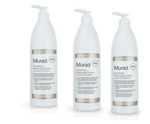 3 x  Murad Soothing Massage Cream Clinical Formula, Pro Size 16.9 oz with Pump