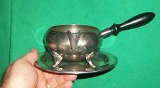 EPCA BRISTOL SILVERPLATE BY POOLE GRAVY BOAT SAUCE POUR DRIP PLATE OLD HOLLOWARE