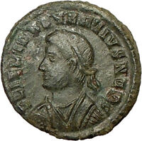 CONSTANTIUS II Constantine  the Great son Ancient Roman Coin Camp GATE i18353