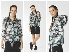 Adidas Originals Windbreaker Women's Soft Shell Windcheater Floral Uk 8