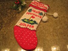 Kurt S. Adler My Favorite Golfer Knit Mini Christmas Stocking
