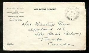 p783 - Canada WW2 Military 1945 FPO RCAF Cover to Toronto
