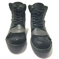Steve Madden Paccoo Mens Black Leather and Suede Lace Up Boots Size 8 Us