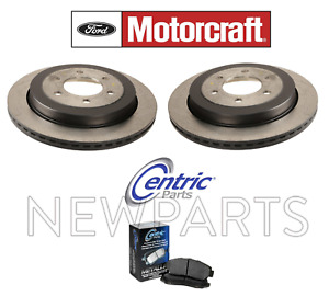 For Lincoln Navigator & Ford Expedition Set of 2 Rear Brake Disc Rotors w/ Pads