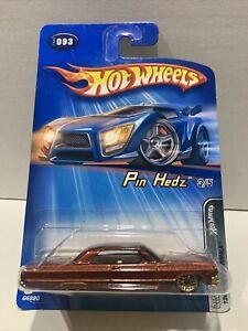 "2005 Series - 1964 Chevrolet Impala ""Pin Hedz"" lowrider - HOT WHEELS LONG CARD"