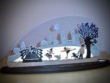 3D LED Arco de Luces Vidrio Acrílico Arcos con Madera Eiszauber 47x22cm 10750