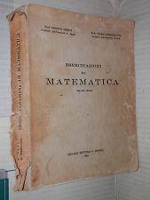 ESERCITAZIONI DI MATEMATICA Vol 1 Donato Greco Guido Stampacchia Liguori 1965 di