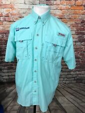 COLUMBIA PFG MENS NYLON MESH LINED SHORT SLEEVE OUTDOOR SHIRT SIZE S A23-26