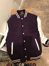 Women Varsity Jacket Premium Wool Body Baseball Letterman Jacket for Women Small