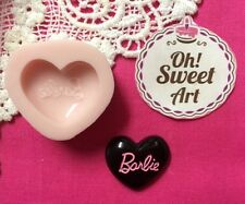 Barbie Heart  Logo  Silicone Mold Food Cake molds wax soap cupcake topper FDA