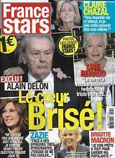 FRANCE STARS n°45 nov.2018  Alain Delon/ Brigitte Macron/ Claire Chazal/ Zazie