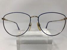 c685c7ac64f Vintage Liz Claiborne Eyeglasses 10 BLUE GOLD ROUND 54-18-145 G770