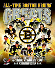 Boston Bruins ALL-TIME GREATS Premium Poster Print BOBBY ORR, Neely, Bourque +++