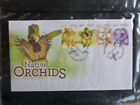 AUSTRALIA 2014 NATIVE ORCHIDS SET 4 STAMPS FDC FIRST DAY COVER