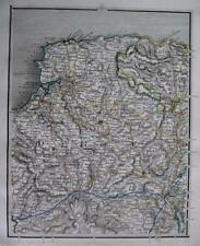 DEVON  BARNSTAPLE  ILFRACOMBE  EXETER  BY JOHN CARY GENUINE ANTIQUE MAP  c1824