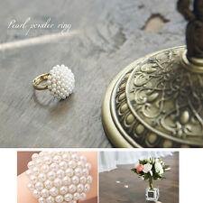 New Fashion Cute Adjustable White Pearl Mushroom Flower Ring