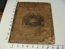 1868 Cornell's Grammar-School, GEOGRAPHY, hand colored maps