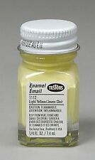 Testors 1/4 oz Light Yellow Gloss Enamel Pain 1112