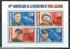 Niger 2013 45th Memorial Anniversary Yuri Gagarin Sheet Of Four Mint Nh