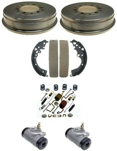 Brake Drums Shoes & Cylinders Kit Rear for Toyota Tacoma 2005-19 6 Lug