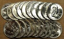 Original BU Roll of 20 1954-D Franklin Half Dollars