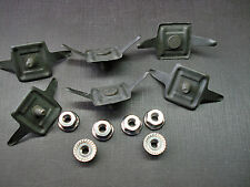 6 pcs fits 1950 DeSoto Plymouth fender moulding clips & nuts NORS
